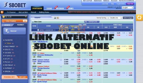 Link alternatif taruhan judi online Sbobet untuk member